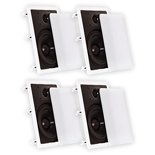 """Theater Solutions CS8W In Wall 8"""" Speakers Surround Sound Ho"""