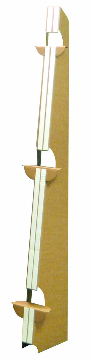 StoreSMART - Easel Back Stand - 63 3/4'' - Double Wing with Adhesive Strips - 25-Pack - EBDW63K-25