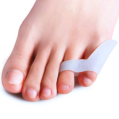 Guard Side Right Heel (Povihome Pinky Toe Bunionette Corrector, Silicone Double - Loop Toe Separators for Tailors Bunion, Bunionette Protect & Pain Relief, Pinky Toe Cushion Guard Tailor's Bunionette Protector - 10 Pack)