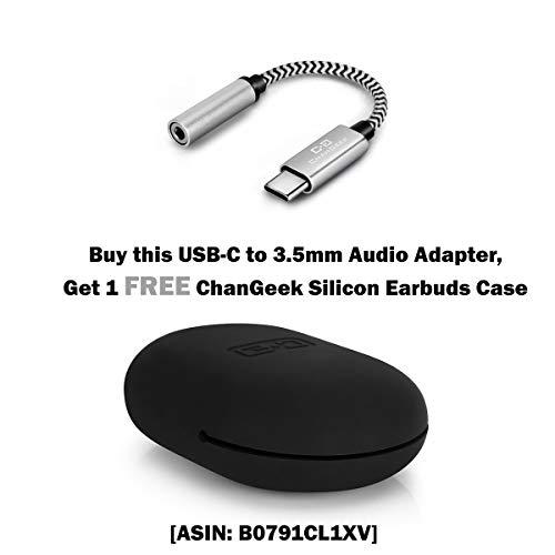 Pixel 2 USB C to 3.5mm Audio Adapter, for Google Pixel 2, 3, 2 XL, Moto Z, HTC U11, Essential PH-1, Type C Headphone Port Adapter with Realtek DAC Chipset, Nylon Braided, ChanGeek CGS07