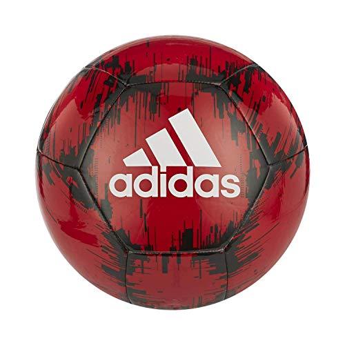 adidas Glider 2 Soccer Ball, Power Red/Black/White, 5