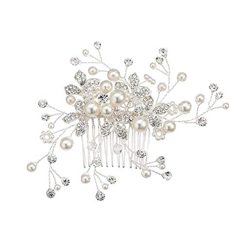 Elec Comb (Elec tech Bridal Hair Accessories Rhinestone Bead Hair Comb Hairstyle for Everyday Clothes, Weddings, banquets and Birthday Clothes)