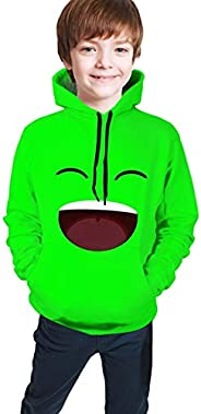 Crazy-Jelly Merch Hoodies Casual Youth Hooded Sweatshirt Pullover Long Sleeve for Boys Girls Teens