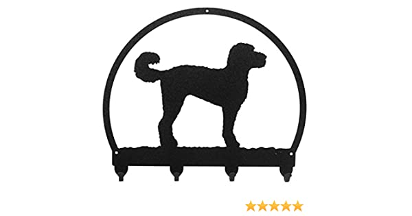 SWEN Products LABRADOODLE Metal 2 Hook Key Chain Holder Hanger