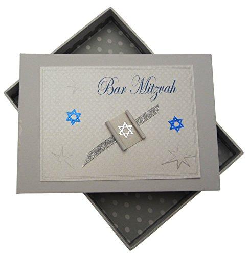white cotton cards Bar Mitzvah Tiny Photo Album Jewish Gift - Album Mitzvah