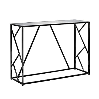 Amazoncom Metal Console Table With Glass Top Rectangular Console