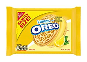OREO Golden Sandwich Cookies, Lemon Flavored Creme, 1 Resealable Family Size Pack