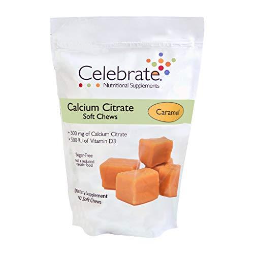 Celebrate Calcium Citrate  Soft Chews, 500 mg, Caramel - 90 Count