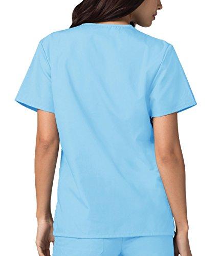 powder Infermiera Blu Parte Adar Superiore Mediche Blue Lavoro Ospedale Uniformi Unisex Da Camice wwCfYP