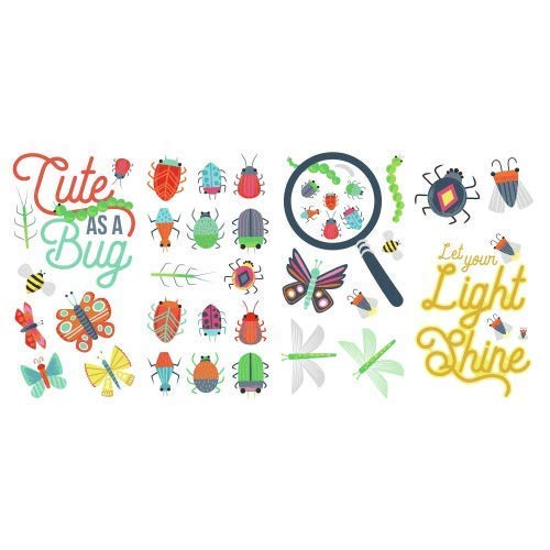 - RoomMates RMK3683SCS Colorful Bugs Peel and Stick Wall Decals, Multi