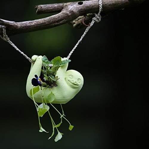 Hanging Sloth Flower Pot Planter Hand-Made Succulent Decoration 3D Printed 12 Colors