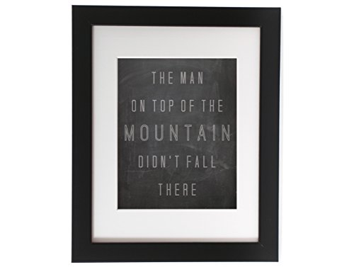 Vince Lombardi the Man on Top of the Mountain Quote Inspirational Motivational Typography Poster Print Home Decor 11×14 Print