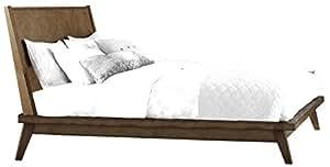 homelegance liatris low profile platform eastern king bed frame with reclined wood. Black Bedroom Furniture Sets. Home Design Ideas
