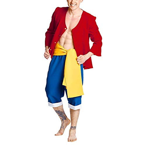 SSJ One Piece Luffy Style Two Year Late Monkey D Luffy Costume (Asian-XL)