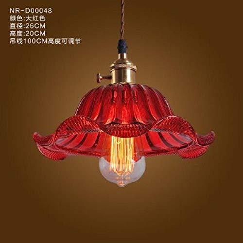 rouge A Luminaire suspendu en verre Lampe de plafond vintage multiCouleure Cystal Verre Café Bar Club Café