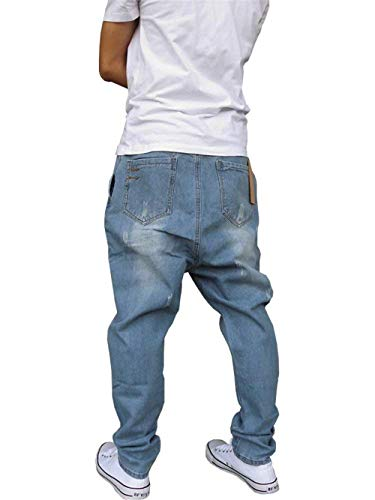 Lunghi Uomo In Larghi Hip hop Moderna Style Stile Casual Hellblau Street Pantaloni Jeans Da qY7pqwE
