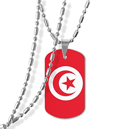 Tunisian Flag Unisex Jewelry Pendant Military Brand Necklace Metal Dog Tag For Men Women Love Gifts