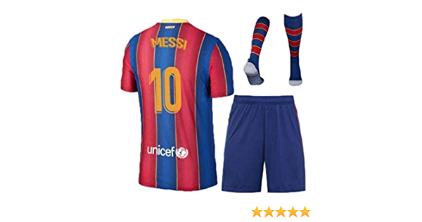 Kid/'s Messi Jerseys 2019//20 Away Barcelona Shorts 10 Youth Lionel