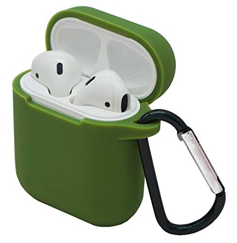 - HappyCover Thicken Case Compatible for Airpods with Keychain Easy Outdoors,Non-Fingerprint Shockproof Silicone Protective Airpods Cover with Integrated Dust Plug for Airpods Charging Case(Olive Green)