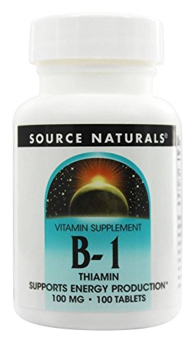 Source Naturals Vitamin B-1 Thiamin 100 mg Supports Energy Production – 100 Tablets