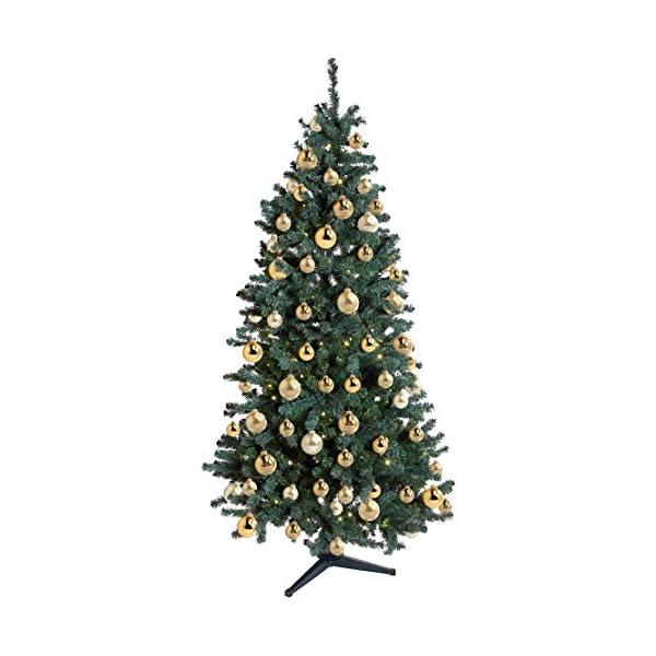 Heitmann Deco Krebs & Sohn Set di 20 Palline di Natale in Vetro - Albero di Natale Deco Appeso - Palle di Natale 5,7 cm - Oro Avorio 5 spesavip