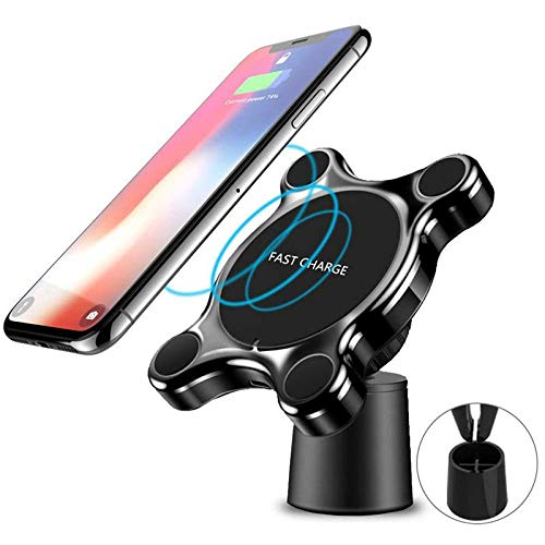 OOOUSE Wireless Car Charger Mount,Car Phone Holder Car Charger Holder for iPhone XR XS Max X 8 8,10W Fast Chargeing for Samsung and Other QI Devices