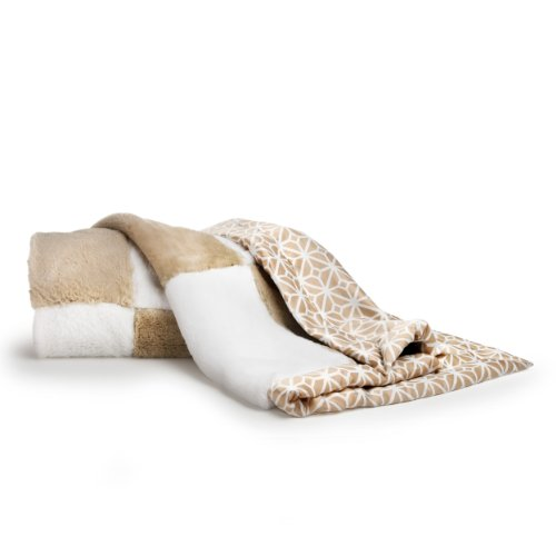 Patch Baby Blanket (CoCaLo Mix & Match Patchwork Fur Blanket, Taupe)