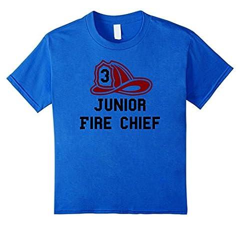 Kids Junior Fire Chief Firefighter Birthday 3 - Kids T Shirt 8 Royal Blue (Fire Chief Birthday)