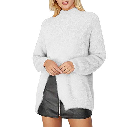 VESNIBA Womens Halloween Costumes Winter Trench Coats Double Breasted Warm Jacket White ()