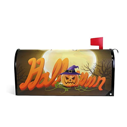Tollyee Halloween Magnetic Mailbox Cover Magnetic Mailbox Cover 9