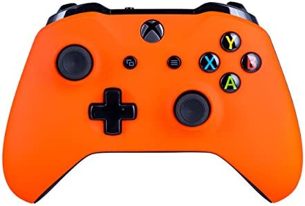 Xbox One S Customized Wireless Controller for Microsoft Xbox One - Soft Touch Neon Orange X1 - Compatible with Xbox Series X|S - Added Grip for Long Gaming Sessions