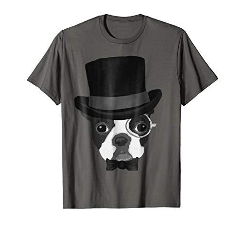 Top Hat Groom Terrier Dog Boston Terrier Wedding Tee Shirt