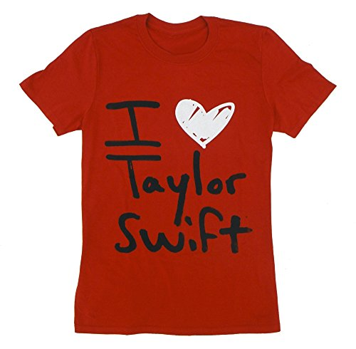 Taylor Swift Red I Heart Tee Unisex, Pink, Small