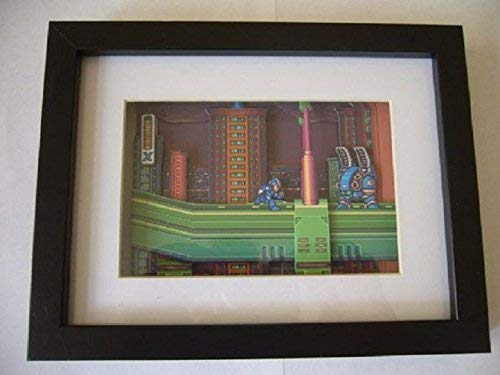 Used, Mega Man X SNES 3D Shadow Box Diorama Art for sale  Delivered anywhere in USA