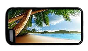 Hipster buy iPhone 5C case beach caribbean TPU Black for Apple iPhone 5C