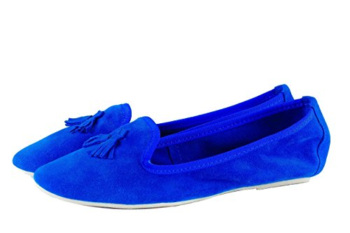 Silfer Shoes - Bailarinas de Piel para mujer Azul azul