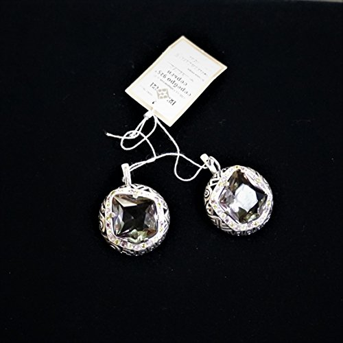 Russian 925 Sterling Silver w/Alexandrite Earrings and Ring size 8.5
