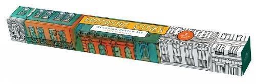Fantastic Cities: Coloring Poster Set