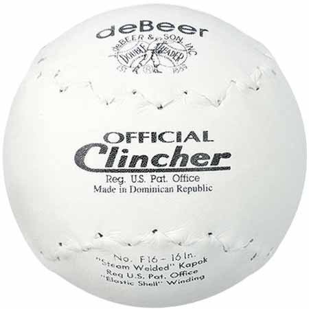 Rawlings Sporting Goods F16 ''Debeer'' Official Clincher Softball 16'' by deBeer