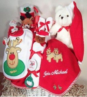 Amazon.com: Personalizable de Navidad bebé cesta: Baby