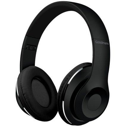 Goodmans Foldable Compact Design Wireless Headphones (Black)