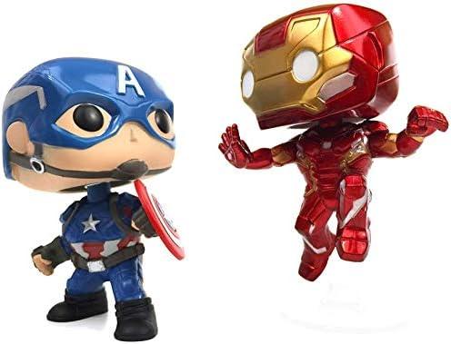 Captain America vs Includes Compatible Pop Box Protector Case Marvel: Civil War Iron Man Collectors Corps 2 Pack Funko Pop Vinyl Figure