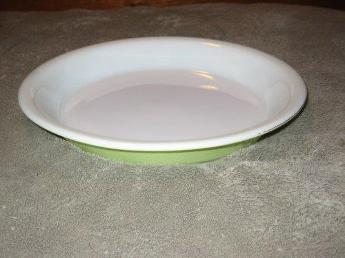 Vintage Pyrex Lime Greenish / Yellow 8 1/2 Inch Glass Pie Baking Dish Pan USA