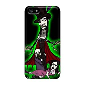 Scratch Protection Hard Phone Case For Iphone 5/5s With Support Your Personal Customized Nice Marilyn Manson Band Image LauraAdamicska