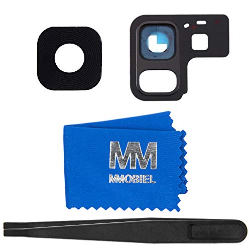 (MMOBIEL Back Rear Camera Glass Lens Compatible with Samsung Galaxy A8 A530 /A8 Plus A730 2018 incl Tweezers and Cloth)