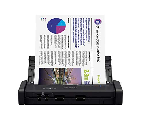 Epson WorkForce ES-200 Color Portable Document Scanner with ADF for PC and Mac, Sheet-fed and Duplex Scanning (Renewed)