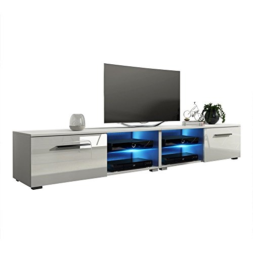 High Gloss Black Tv (MEBLE FURNITURE & RUGS New Moon 81