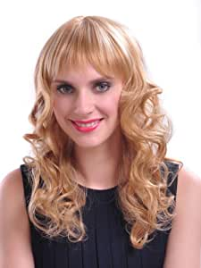 Abhair- Long Curly Golden Blond Synthetic Hair Wig Costume Wig