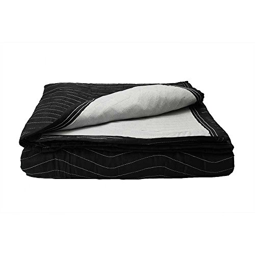 "Price comparison product image Moving Blanket (Single) 72"" X 80"" US Cargo Control - Supreme Mover (90 Lbs/doz, Black/White)"