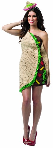 Food And Drink Halloween Costumes (Rasta Imposta Women's Foodies Taco Dress, Multi, One Size)